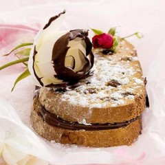 Rose water and chocolate sandwich