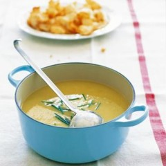 Rustic leek-and-potato soup