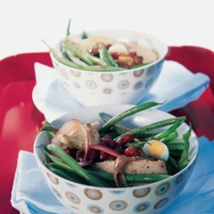 Salad Nicoise with fresh tuna
