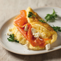 Salmon and feta Omelette