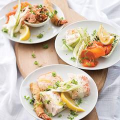 Salmon tasting plates