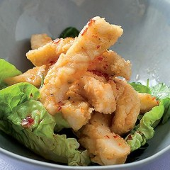 Salt-and-pepper calamari with sweet chilli sauce