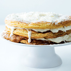 Salted banana toffee millefeuille