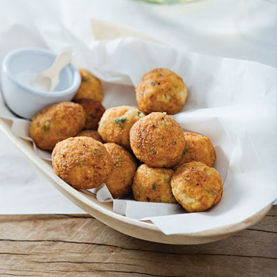 Salted cod fritters