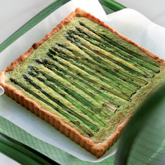 Savoury broccoli and asparagus cheesecake