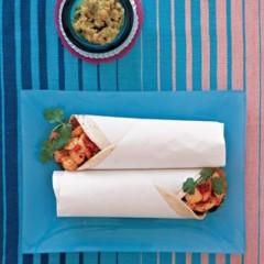 Seafood burritos