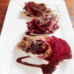 Seared radicchio with anchovy