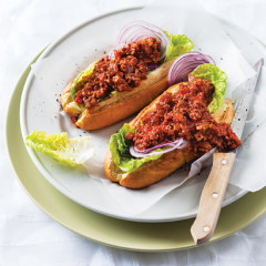 Sloppy joes on crusty French rolls