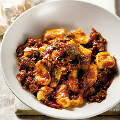 Slow-cooked beef ragu with gnocchi