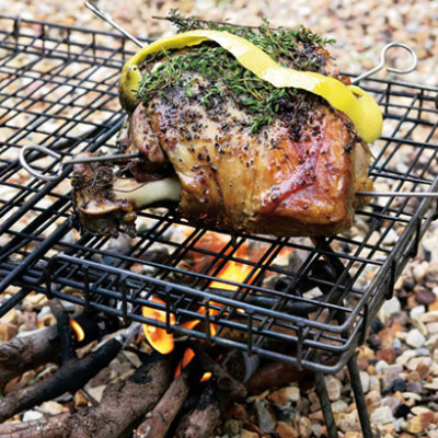 Slow-roasted barbeque-infused lamb