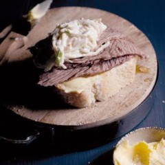 Slowcooked silverside sandwiches with creamy celeriac remoulade