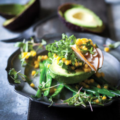 Smoked chicken and avo with mango-and-coriander dressing