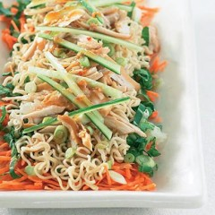 Smoked chicken and chinese noodle salad