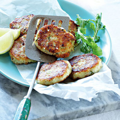 Smoked chicken, celery and potato patties