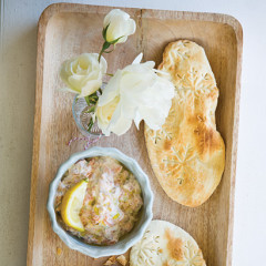 Smoked trout pate with flatbreads