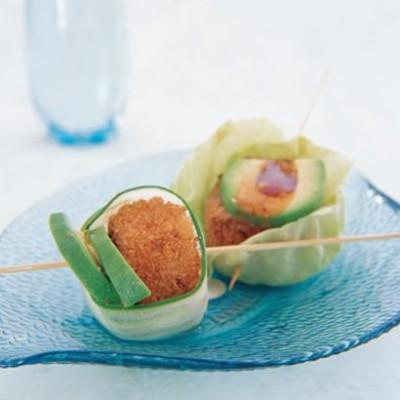 Snoek fishcake wraps