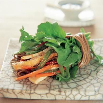 Soba noodle & tofu wrap with toasted sesame