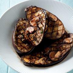 Soya-and-garlic-roasted brinjals