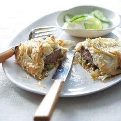 Spiced lamb and leek pies