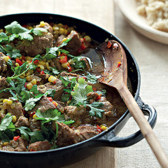 Spiced pork and corn stew