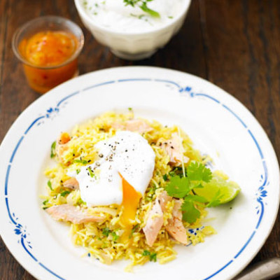 Spiced smoked trout kedgeree