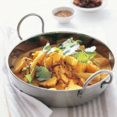 Spiced yellow vegetables