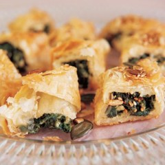 Spinach and feta snack pies