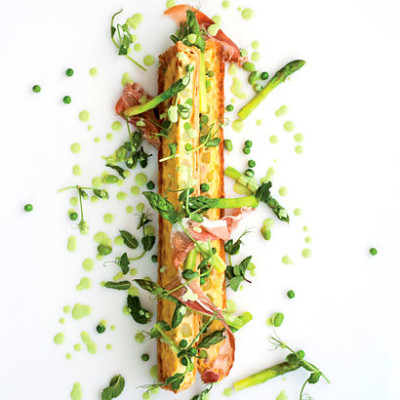 Spring pea and Parmesan