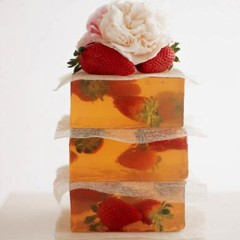Stack of soft fruit jellies