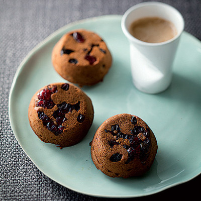 Sticky date and mixed-berry muffins