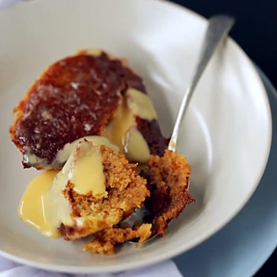 Sticky malva pudding with brandy sauce