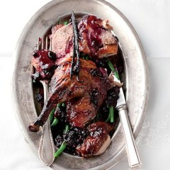 Sticky-sweet duck with crisp greens