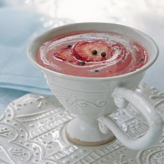 Strawberry and champagne soup