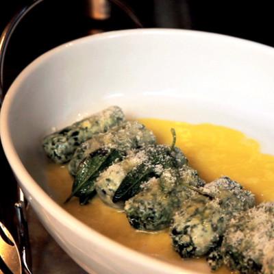 Strozzapreti (ricotta-and-spinach dumplings)
