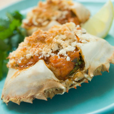 Stuffed crab (caranguejo recheado)