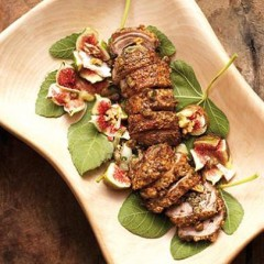 Stuffed lamb loin fillet with parmesan and caper crust