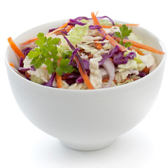 Super healthy, spicy coleslaw