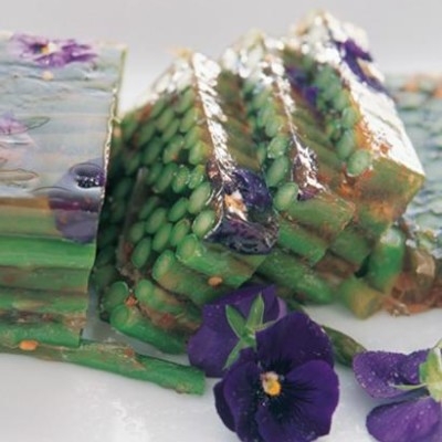 Sweet chilli asparagus terrine with pickled ginger