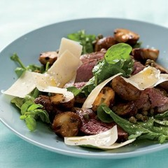Tagliata with capers and Parmesan