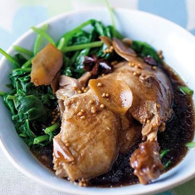 Tender duck poached in spiced soya sauce