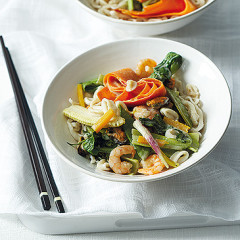 Thai seafood and vegetable green curry