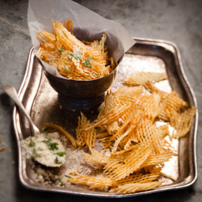 Truffle-and-Parmesan-coated chips