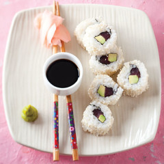 Tuna and avocado California rolls