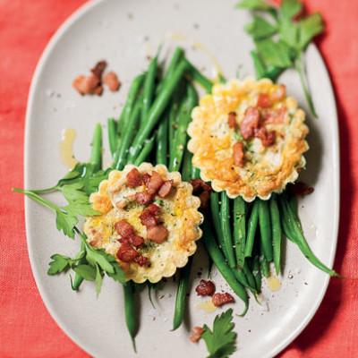 Tuna-and-bacon tartlets