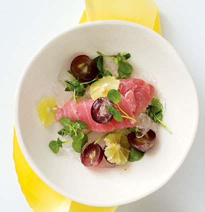 Tuna sashimi with ginger soy dressing woolworths taste for Sashimi dressing