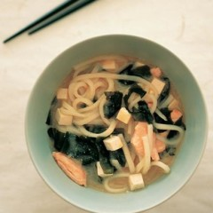 Udon noodles in miso broth