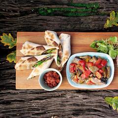 Vegetarian barbecue wraps