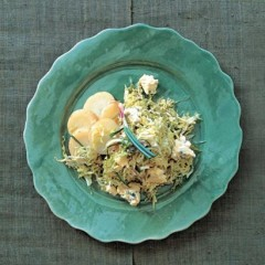 Warm cabbage and blue cheese salad
