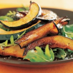 Warm table queen squash and wild rocket salad with pumpkin oil