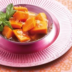 Wasabi and maple syrup steamed butternut